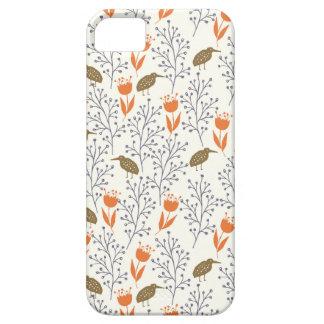 Funda Para iPhone SE/5/5s Flores y neutral Phonecase de los pájaros