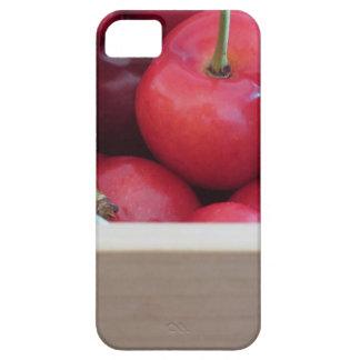 Funda Para iPhone SE/5/5s Frontera de cerezas frescas en fondo de madera