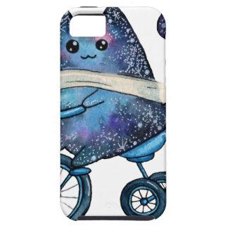 Funda Para iPhone SE/5/5s gato cósmico en la bici
