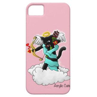 Funda Para iPhone SE/5/5s Gato del Cupid del negro de carbón del el día de
