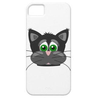 Funda Para iPhone SE/5/5s Gato negro de ojos verdes