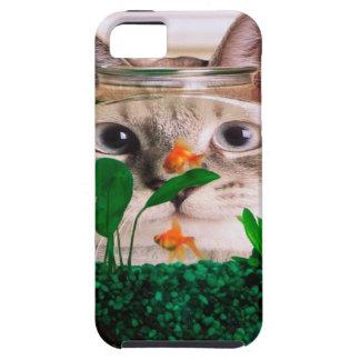 Funda Para iPhone SE/5/5s Gato y pescados - gato - gatos divertidos - gato