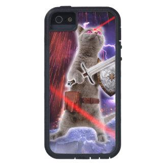 Funda Para iPhone SE/5/5s gatos del guerrero - gato del caballero - laser