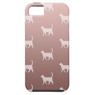 Funda Para iPhone SE/5/5s Gatos en el oro color de rosa