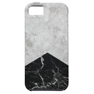 Funda Para iPhone SE/5/5s Granito concreto #844 del negro de la flecha