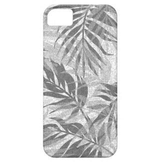 Funda Para iPhone SE/5/5s Gris tropical hawaiano del vintage de las palmas