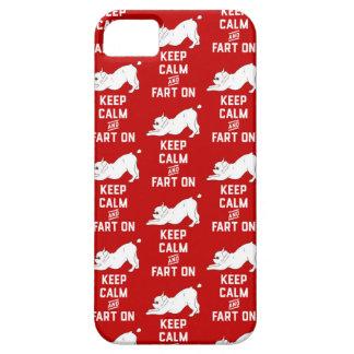 Funda Para iPhone SE/5/5s Guarde la calma y Fart encendido con el dogo