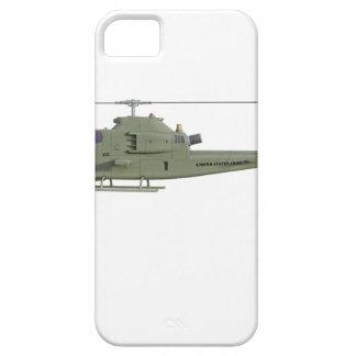 Funda Para iPhone SE/5/5s Helicóptero de Apache en perfil de la vista