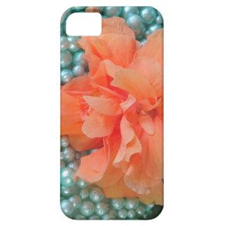 Funda Para iPhone SE/5/5s hibisco anaranjado del SE del iPhone en gotas