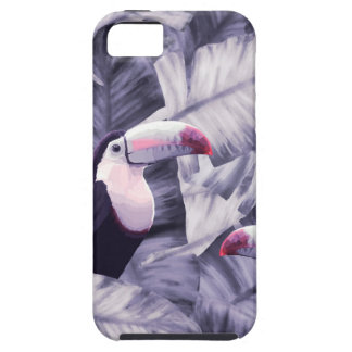 Funda Para iPhone SE/5/5s Hojas tropicales violetas del plátano de Toucan