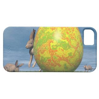 Funda Para iPhone SE/5/5s Huevo y liebres de Pascua - 3D rinden