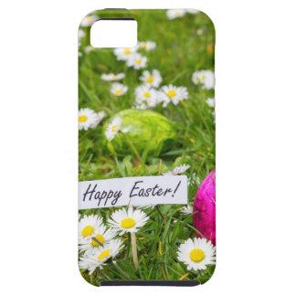 Funda Para iPhone SE/5/5s Huevos de Pascua pintados en hierba con las