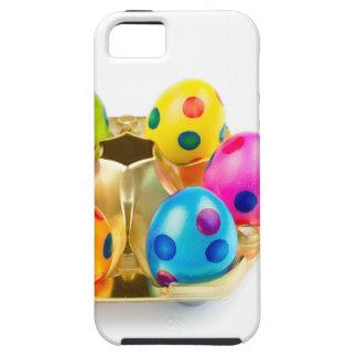 Funda Para iPhone SE/5/5s Huevos de Pascua pintados en la bandeja del oro