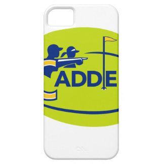 Funda Para iPhone SE/5/5s Icono del campo de golf del caddie y del golfista
