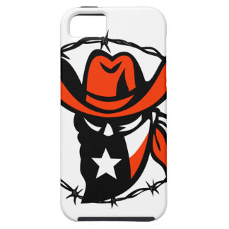 Funda Para iPhone SE/5/5s Icono proscrito Texan del alambre de Barb de la