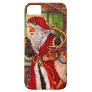 Funda Para iPhone SE/5/5s Ilustracion de Papá Noel - ilustraciones del
