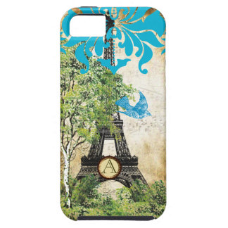 Funda Para iPhone SE/5/5s iPhone del damasco de la torre de Effiel del
