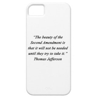 Funda Para iPhone SE/5/5s Jefferson - segunda enmienda