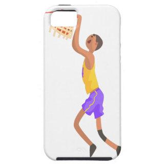 Funda Para iPhone SE/5/5s Jugador de básquet que cuelga en el pegatina de la