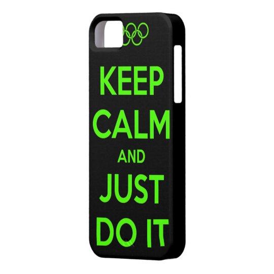 Funda Para iPhone SE/5/5s Keep Calm and just do it.