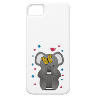 Funda Para iPhone SE/5/5s Koala y mariposa