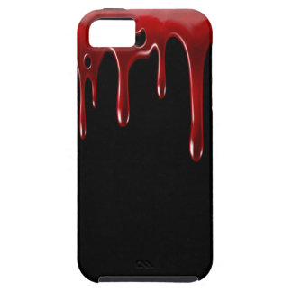Funda Para iPhone SE/5/5s La sangre de Falln gotea negro