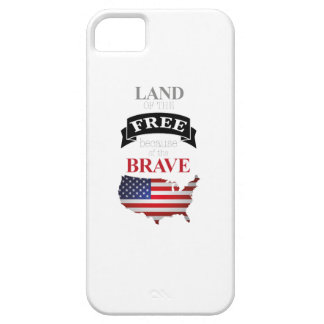 Funda Para iPhone SE/5/5s Land of the free because of the brave