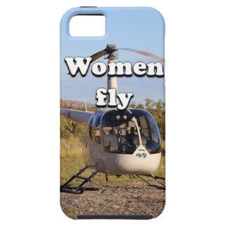 Funda Para iPhone SE/5/5s Las mujeres vuelan: Helicóptero 2 (blancos)