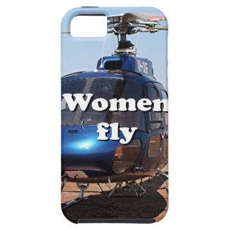 Funda Para iPhone SE/5/5s Las mujeres vuelan: helicóptero azul