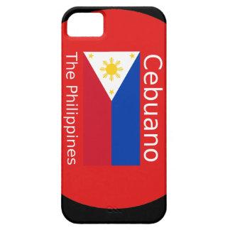 Funda Para iPhone SE/5/5s Lengua de Cebuano y bandera de Filipinas
