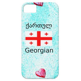 Funda Para iPhone SE/5/5s Lengua y diseño georgianos de la bandera