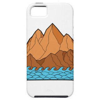 Funda Para iPhone SE/5/5s Línea desigual de las ondas de montaña mono