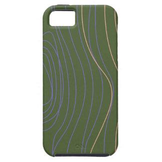 Funda Para iPhone SE/5/5s Líneas de madera verde del diseño