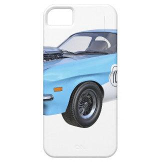 Funda Para iPhone SE/5/5s los años 70 azules y coche blanco del músculo