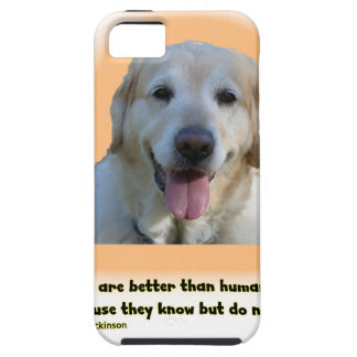 Funda Para iPhone SE/5/5s Los perros son mejores que seres humanos
