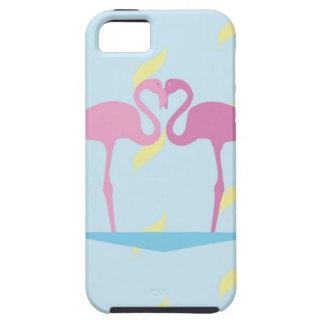 Funda Para iPhone SE/5/5s Love Flamingos