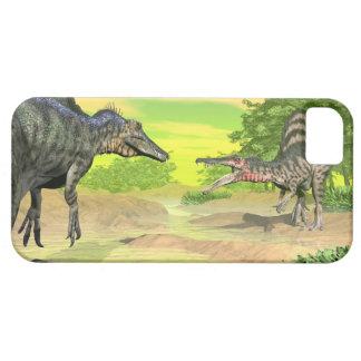 Funda Para iPhone SE/5/5s Lucha de los dinosaurios de Spinosaurus - 3D