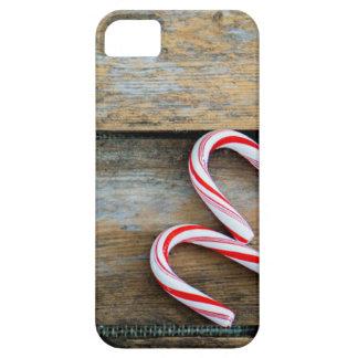 Funda Para iPhone SE/5/5s Madera rústica con los bastones de caramelo del