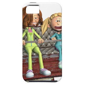 Funda Para iPhone SE/5/5s Madre e hija del dibujo animado en una noria