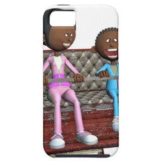 Funda Para iPhone SE/5/5s Madre e hijo del dibujo animado en una noria