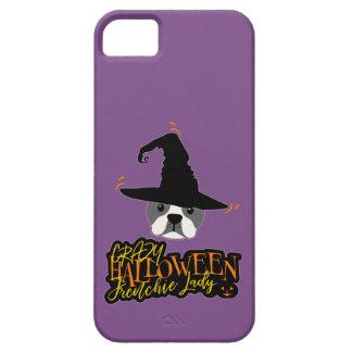 Funda Para iPhone SE/5/5s Mamá loca de la señora dogo francés de Halloween
