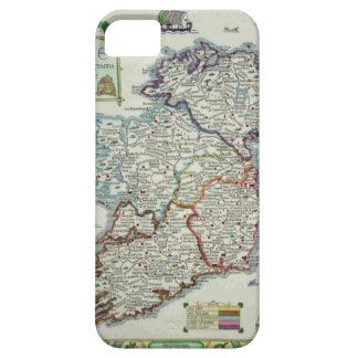 Funda Para iPhone SE/5/5s Mapa de Irlanda - mapa histórico de Eire Erin del