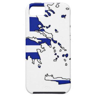 FUNDA PARA iPhone SE/5/5s MAPA DE LA BANDERA DE GRECIA
