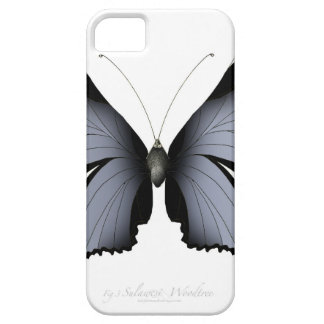 Funda Para iPhone SE/5/5s Mariposa azul 3 Sulawesi Woodtree