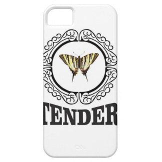 Funda Para iPhone SE/5/5s mariposa blanda