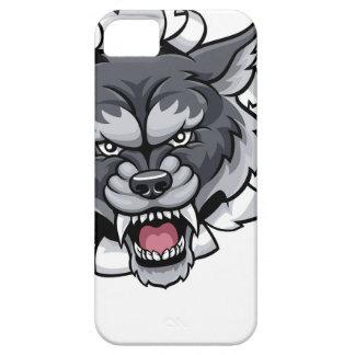 Funda Para iPhone SE/5/5s Mascota de los bolos del lobo que rompe el fondo