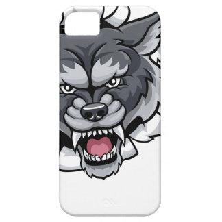 Funda Para iPhone SE/5/5s Mascota del grillo del lobo que rompe el fondo