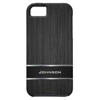 Funda Para iPhone SE/5/5s Mirada de madera negra con la etiqueta el | del
