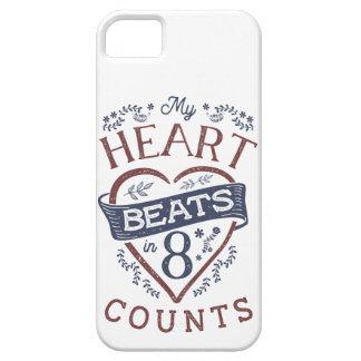 Funda Para iPhone SE/5/5s Mis golpes de corazón en danza de 8 cuentas