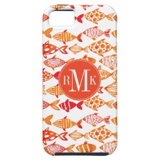 Funda Para iPhone SE/5/5s Modelo anaranjado brillante de los pescados de la